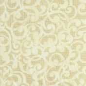 "W108118 - Filigree Scroll in Cream & Beige - 108"" Extra Wide Backing Cotton Fabric"